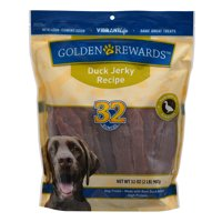 Golden Rewards Duck Jerky Dog Treats, 32 oz