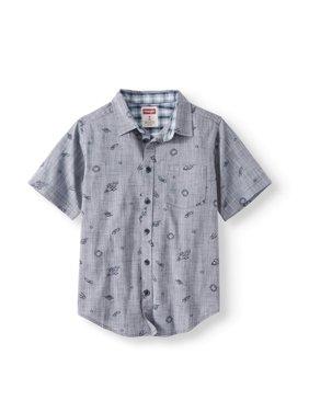 Wrangler Boys Short Sleeve Button Up Shirts