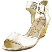 aa453175f Sam Edelman Shirley Women Open Toe Leather Wedge Sandal
