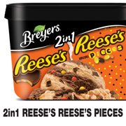 Breyers 2in1 REESE'S REESE'S PIECES Frozen Dairy Dessert, 1.5 qt