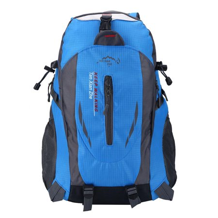 6 Colors 40L Waterproof Backpack Shoulder Bag For Outdoor Sports Climbing Camping Hiking, Travel Backpack, Climbing Bag(blue) Black Moon Fishing Backpack