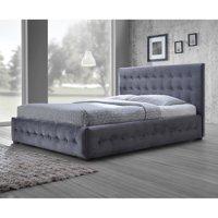 Baxton Studio Margaret Modern and Contemporary Grey Velvet Button-tufted Platform Bed, Multiple Sizes
