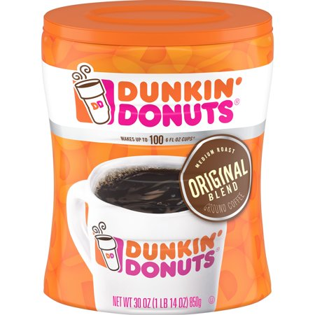 Dunkin' Donuts Original Blend, Medium Roast Coffee, 30-Ounce Canister - George Strait Coffee
