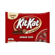 (2 Pack) Kit Kat, Crisp Wafer Milk Chocolate Candy Bars Snack Size, 20.1 Oz