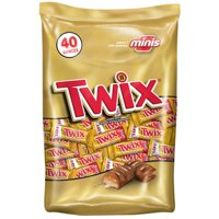 Twix Mini Size Caramel Chocolate Cookie Candy Bar, 40 Oz.