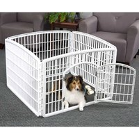 IRIS Plastic Puppy and Dog Pet Playpen (Pearl White)