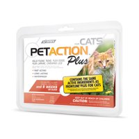 PetAction Plus Flea and Tick Treatment for Cats, 3 Monthly Treatments