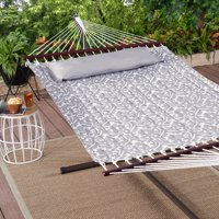 Mainstays Keene Quilted Outdoor Double Hammock in Gray