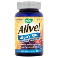 Nature's Way Alive! Men's 50+ Gummy Vitamins, Multivitamin Supplements, 60 Count