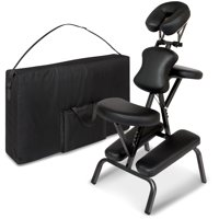 Best Choice Products Folding Portable Light Weight Massage Therapy Chair w/ Carrying Bag Case - Black