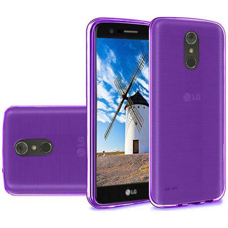 Slim TPU Silicone Soft Crystal Skin Protective Cover Case and Atom Cloth LG Stylo 4+ Plus/LG Stylo 4 (2018) - Purple