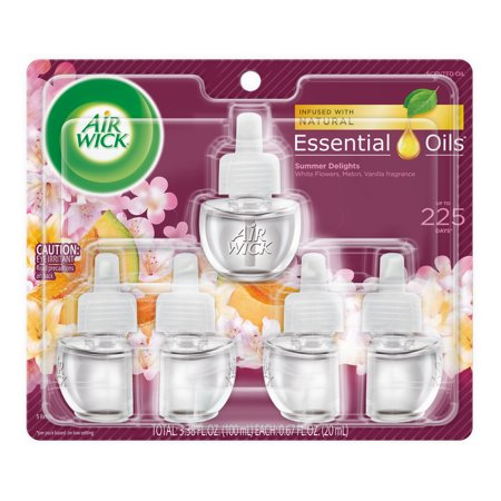 Air Wick Scented Oil 5 Refills, Summer Delights (5X0.67oz), Air