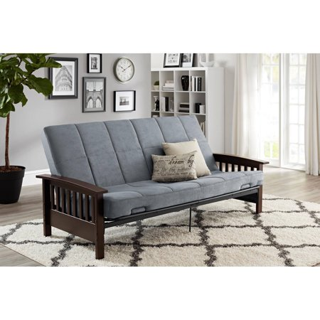 Better Homes and Gardens Mission Wood Arm Futon, Multiple (Wood Futon)