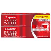 Colgate Optic White Whitening Toothpaste, Sparkling White - 5oz. (Twin Pack)