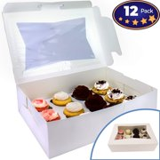6f01baac3b7 Pro-Quality Bakery Boxes for Cupcakes with Display Window and Cupcake  Inserts 12 Pack.