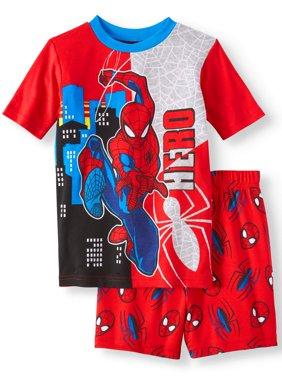 Boys' Spiderman Cotton 2 Piece Pajama Sleep Set (Little Boy & Big Boy)