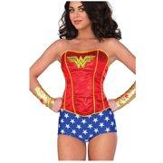 70bd5b8ed5 Adult Women s Classic Wonder Woman Sequin Corset Costume Accessory