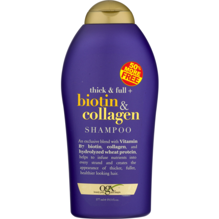 OGX Thick & Full Biotin & Collagen Shampoo, 19.5 (Best Shampoo For Synthetic Wigs)
