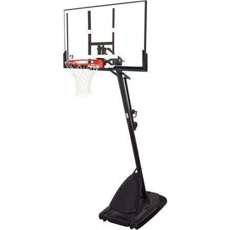 Spalding Nba 54 Portable Angled Basketball Hoop With Polycarbonate