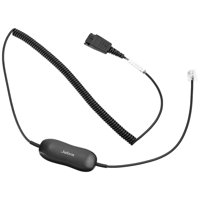 Jabra GN1216 Coiled Audio Cable Adapter for Avaya 1600/9600 Desk Phones