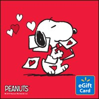 Peanuts Valentine's Day Walmart eGift Card