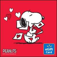 Peanuts Valentine's Day Walmart eGift Card