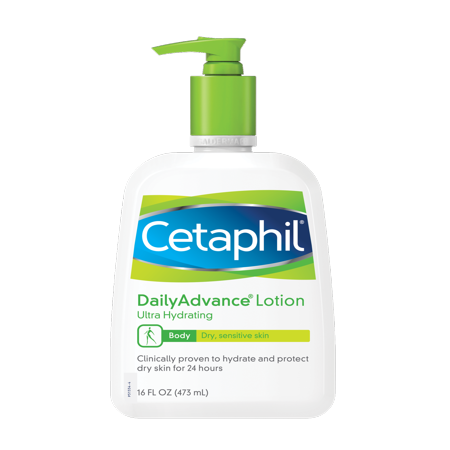 Cetaphil Dry Sensitive Daily Advance Ultra Hydrating Lotion, 16.0 fl oz - Orange Blossom Hydrating Body Cream