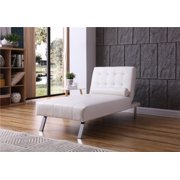 White Leather Chaise Lounges