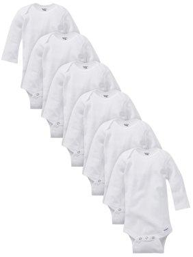 Organic Cotton Long Sleeve Onesies Bodysuits, 6pk (Baby Boys or Baby Girls Unisex)
