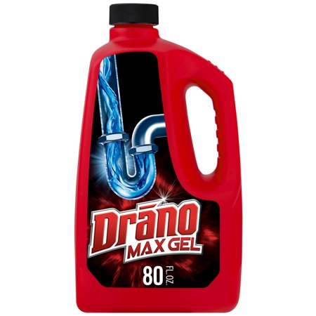 Drano Max Gel Clog Remover, 80 fl oz (Best Solution For Clogged Toilet)