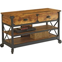"Better Homes & Gardens Rustic Country TV Stand for TVs up to 52"", Pine Finish"