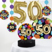 The Party Aisle Balloon 50th Birthday Decorations Kit Set Of 7