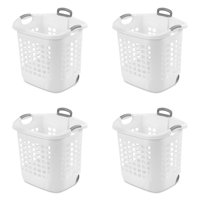 Sterilite, 1.75 Bushel/62 L Ultra™ Wheeled Laundry Basket, White, Case of 4