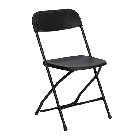 Flash Furniture (1-Pack) HERCULES Series Premium Plastic Folding Chair, Black ()