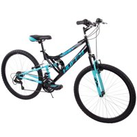 "Huffy 26"" Trail Runner Womens Full Suspension Mountain Bike, Black"