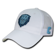 f8d3693d6bed1 NCAA Columbia University Lions Curved Bill Relaxed Mesh Trucker Caps Hats  White