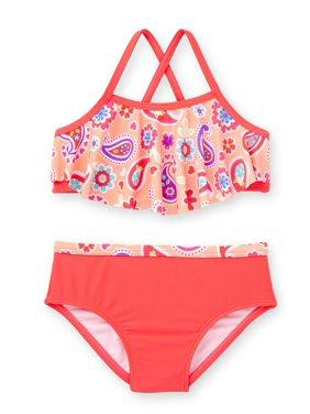Toddler Girl Criss Cross Back Bikini Swimsuit