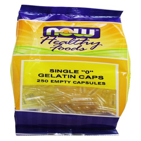 Vcaps 0 Non Gelatin - NOW Foods - Gelatin Empty Capsules Single '0' Size - 250 Capsules
