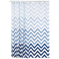 "InterDesign Ombre Chevron Fabric Shower Curtain, Standard 72"" x 72"", Blue Multi"