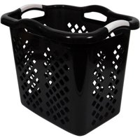 Home Logic Lamper 2 Bushel Laundry Basket, Black/Silver
