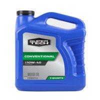 (3 Pack) Super Tech Conventional SAE 10W-40 Motor Oil 5 qt. Jug