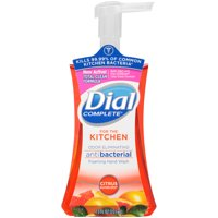 Dial Complete Antibacterial Foaming Hand Wash, Citrus Sunburst for the Kitchen, 7.5 Ounce