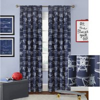Better Homes and Gardens Airplanes Curtain Panel
