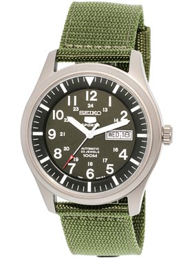 Men's 5 Automatic SNZG09K Green Nylon Automatic Fashion Watch