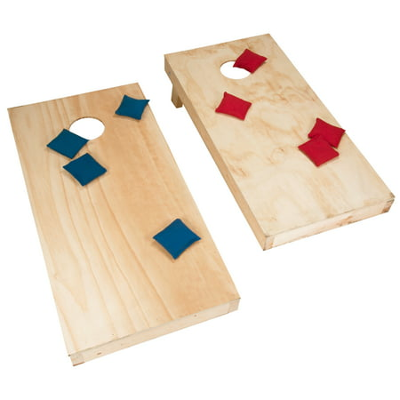 Fantastic Unfinished Regulation Size Wooden Cornhole Boards And Bags Theyellowbook Wood Chair Design Ideas Theyellowbookinfo
