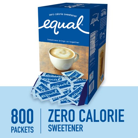 (800 Packets) Equal Zero Calorie Sweetener Packets, Sugar Substitute (Sugar Metabolizer)