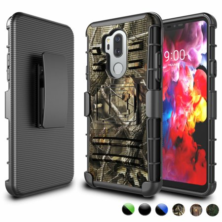 LG G7 Case, LG G7 ThinQ Holster Belt, LG G7+ ThinQ Clip, Njjex [Heavy Duty] Armor Shock Proof [Belt Clip] Holster [Kickstand] Combo Rugged Case For LG LM-G710 / LG G7 (2018)