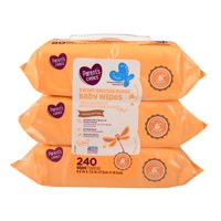 Parent's Choice Baby Wipes, Sweet Orange Burst, 240 Count, 3 Packages