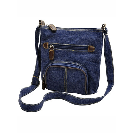 Casual Crossbody Bag, Coofit Denim Mini Crossbody Bag School Shoulder Bag Office Messenger Bag for Kids Girls