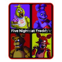 """Five Nights at Freddy's """"Five Nights"""" Silky Soft Throw, 40 x 50"""